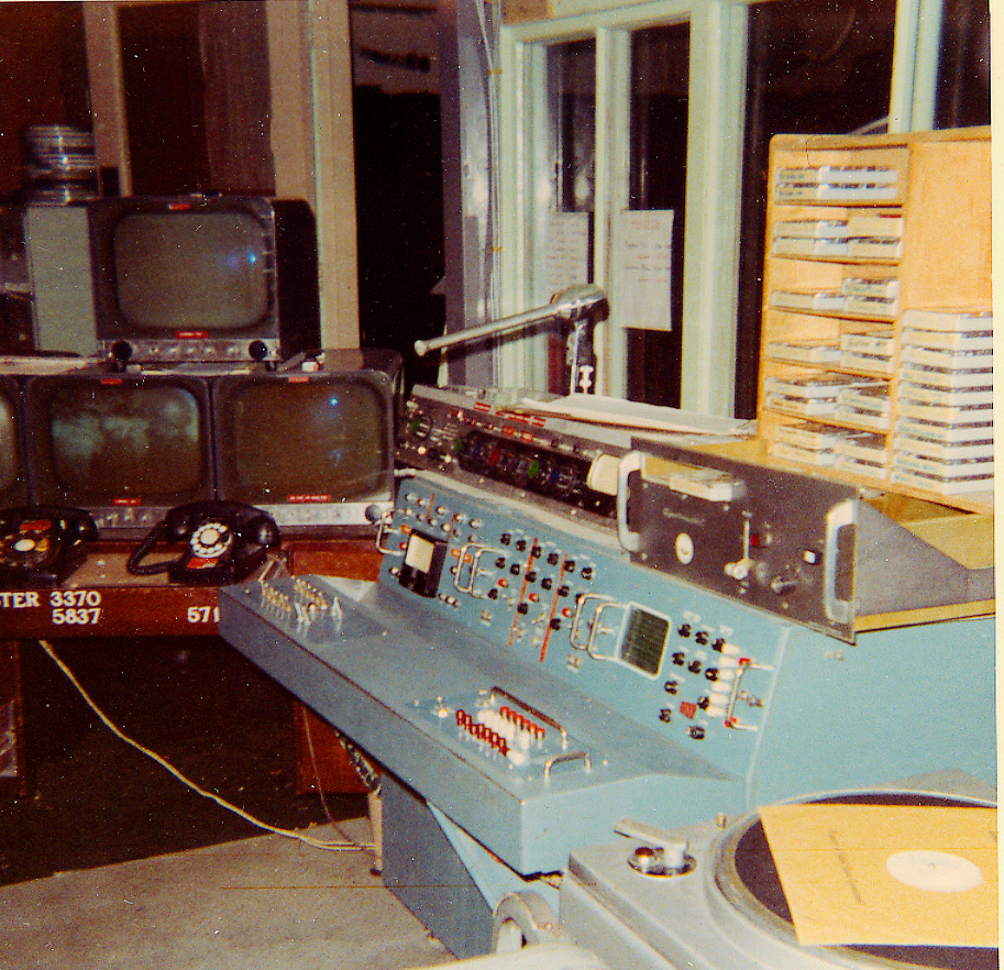 Kodiak Alaska Military History Radio Telephone Electrical Control Panel Wiring Building Robinson Armed Forces Television Channel 8 In The Studio Is Through Windows At Right Of Photo Film Chain Was Behind Monitors