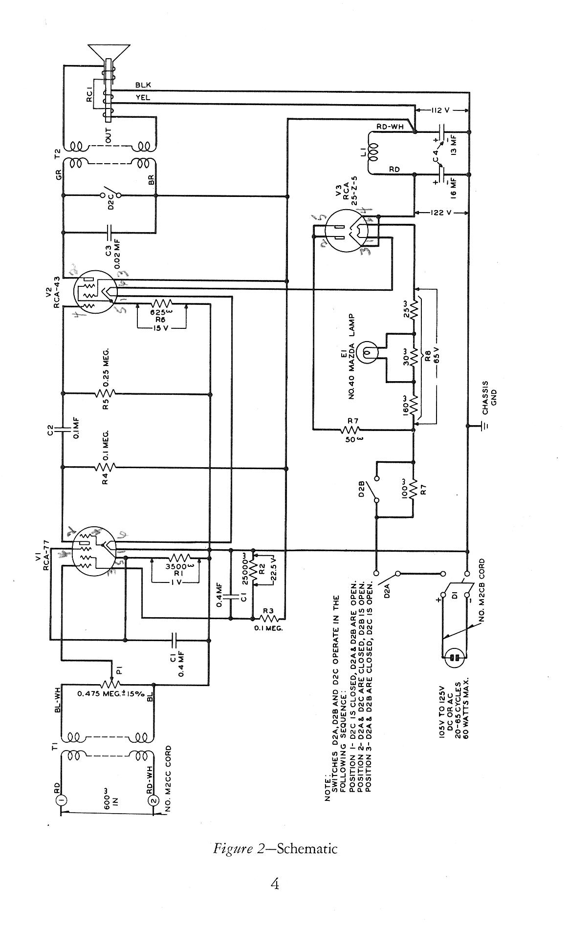 Telephone Technical References Electrical Wiring Diagrams For A Simpson 260 Multimeter 100 Type