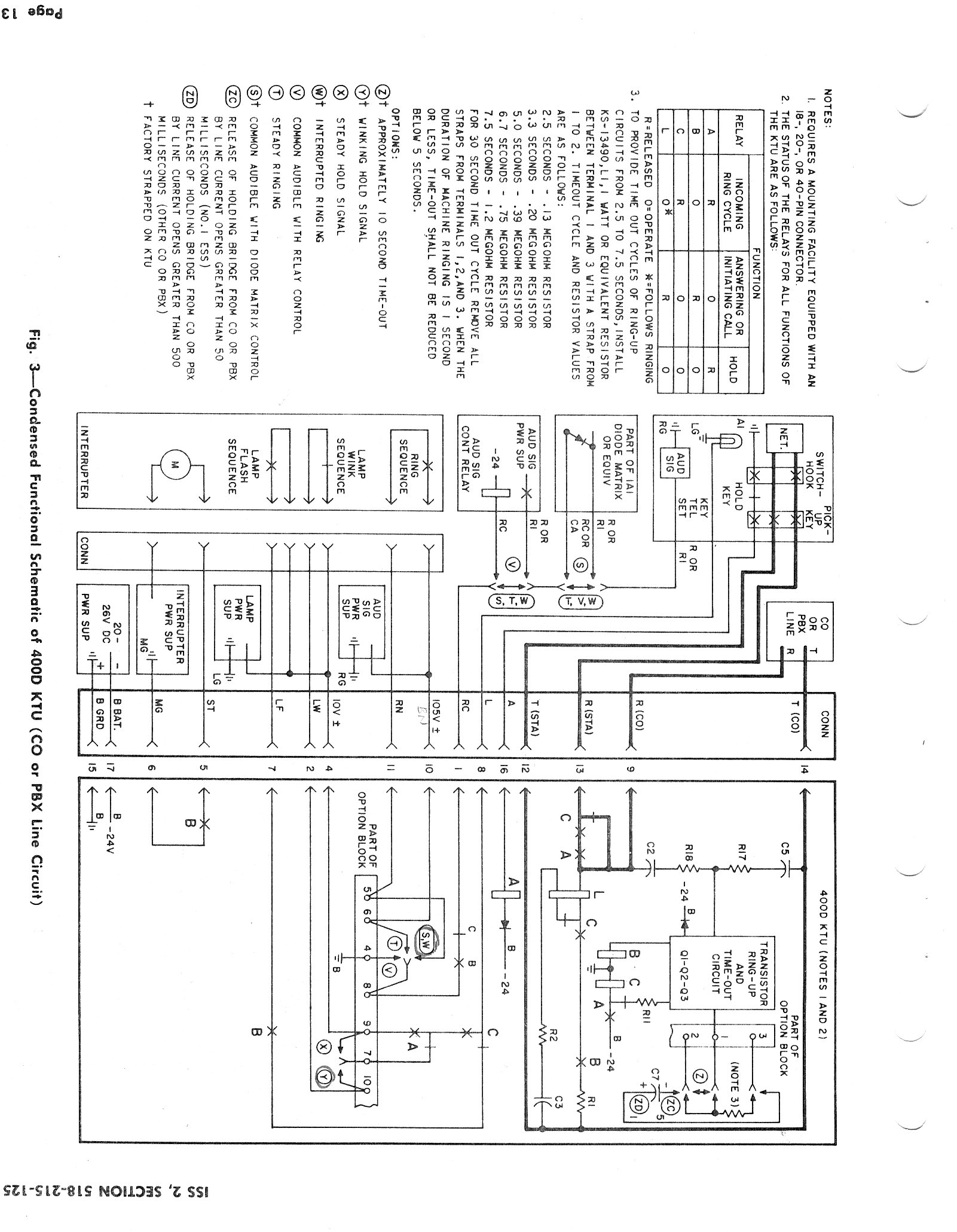 1a2 Key System Explanation Basic Wiring Diagram Look At The Upper Left Box Tel Set And See That There Are Five Wires A Ground Required Between Phone 400d Line Card Which Is In