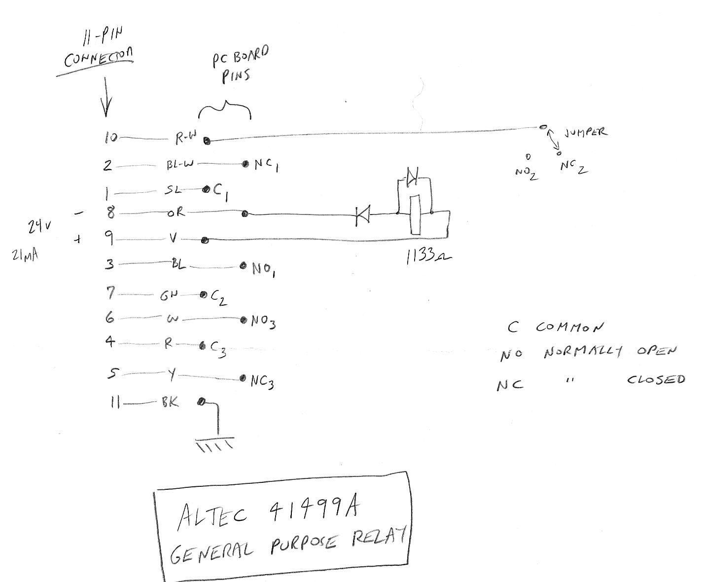 Telephone Technical References Relay No Nc Connection Altec 41499a General Purpose Sketch