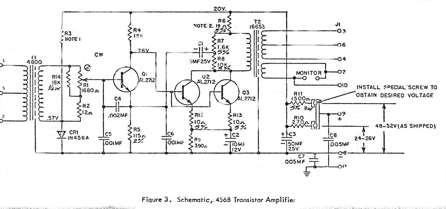 altec 456b transistor amplifier schematic and