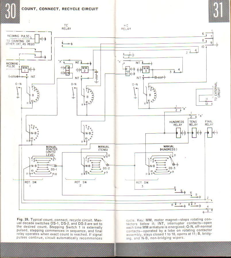 basic circuits, telephone technical reference electrical relay diagram typical count, connect, recycle circuit fig 39