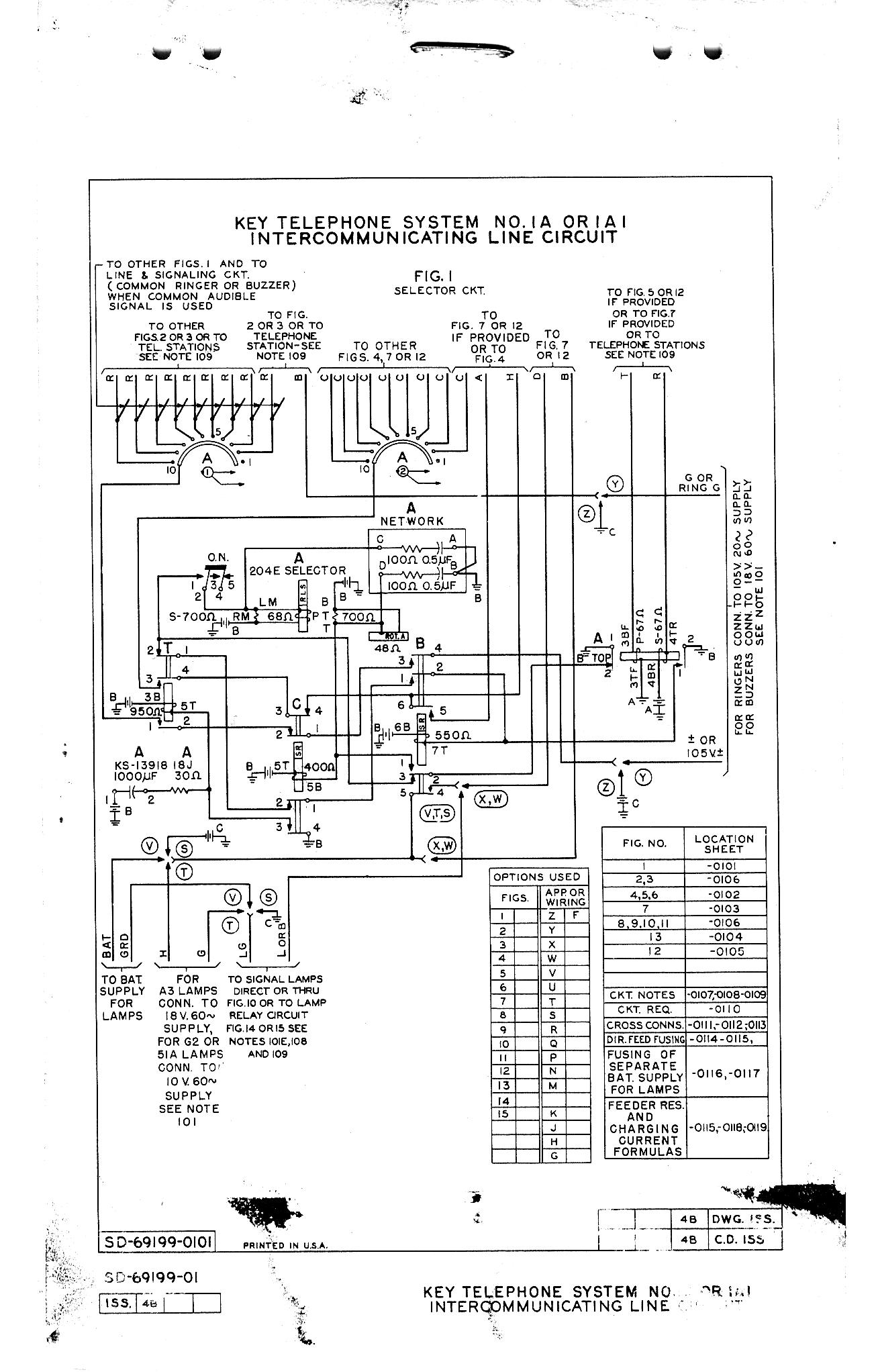 Telephone Technical References Western 12 Pin Wiring Diagram Or 1a1 Circuits