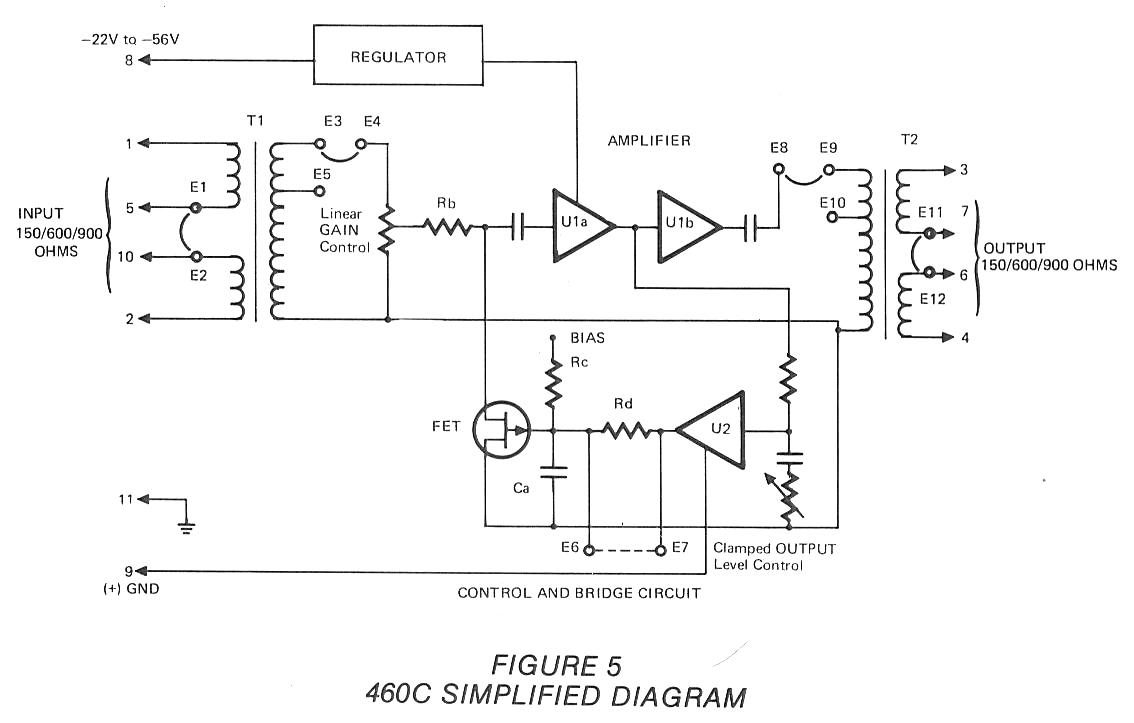 telephone technical references lorain 460c compressor amplifier simplified schematic and text misc loose schematics of phones