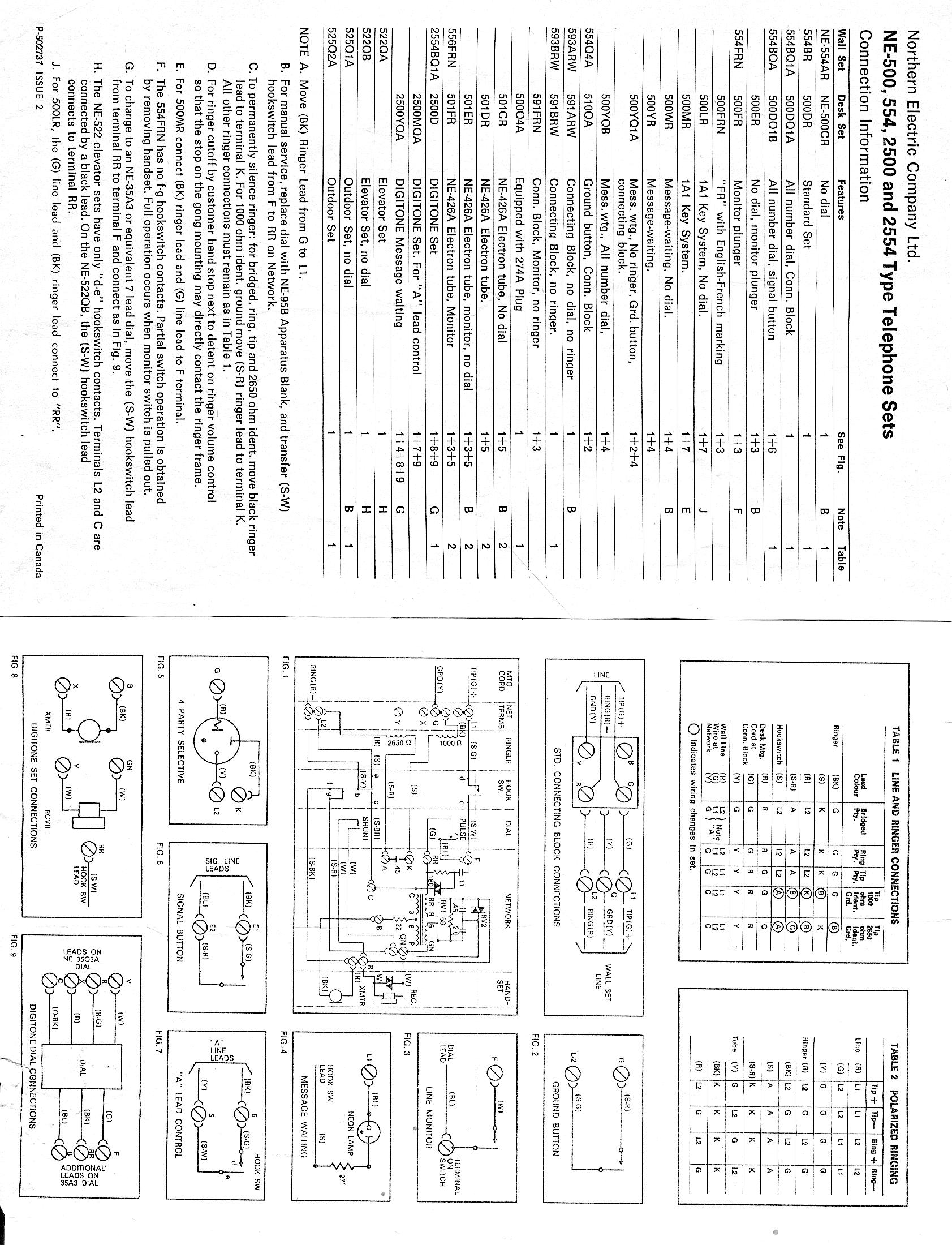 ne500 554 2500 2554 telephone technical references western electric 554 wiring diagram at gsmx.co