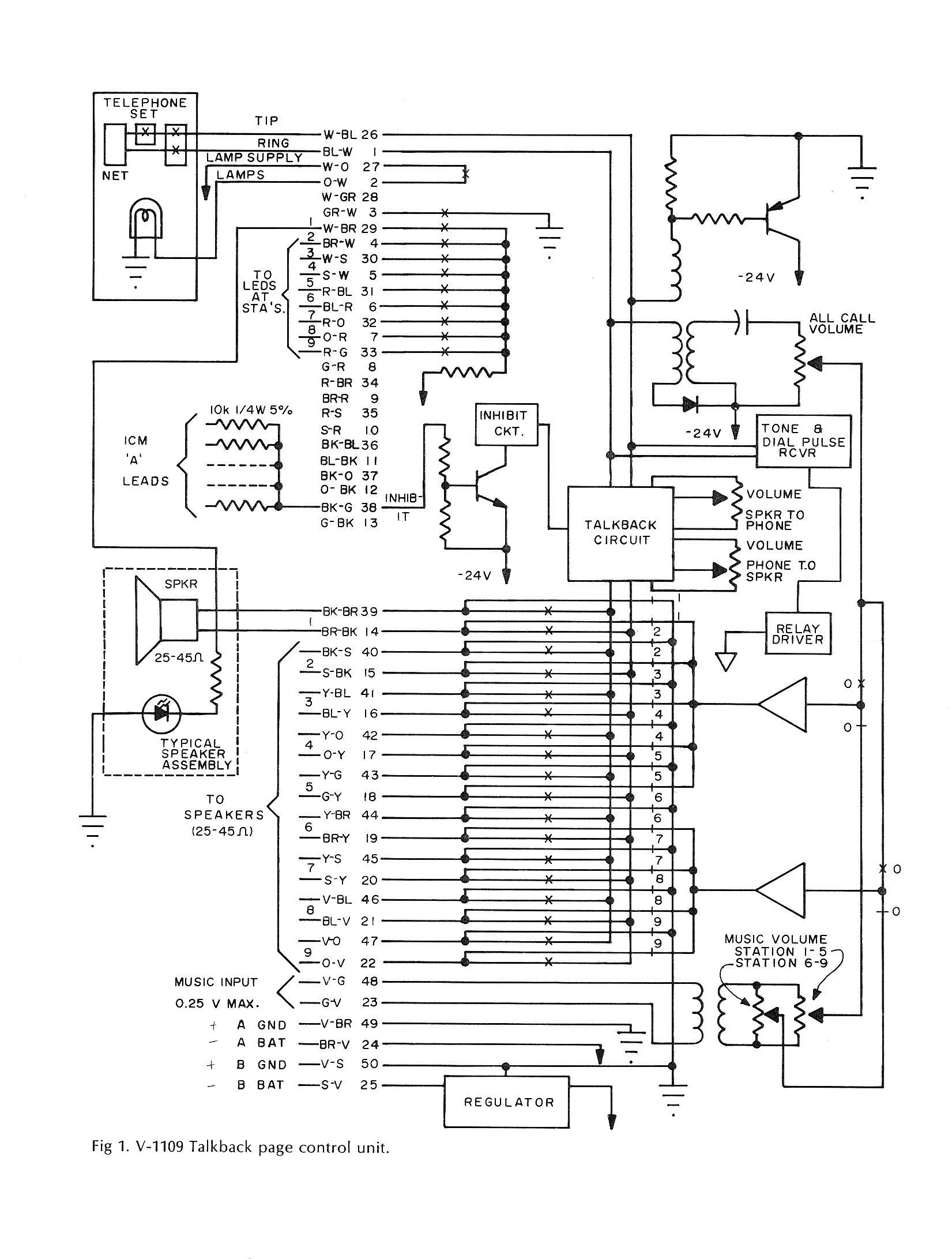 valcom1109 telephone technical references valcom paging horn wiring diagram at crackthecode.co